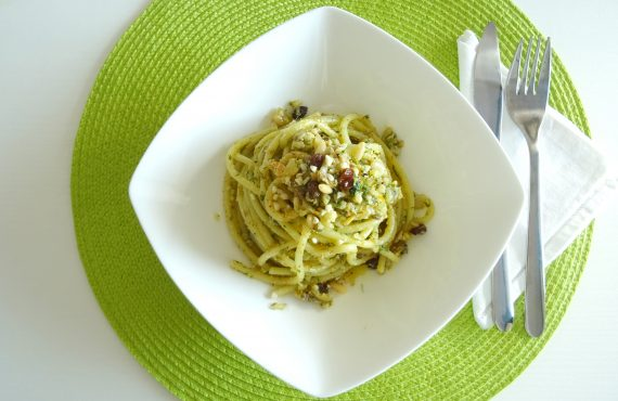 Bucatini with Sicilian anchovies