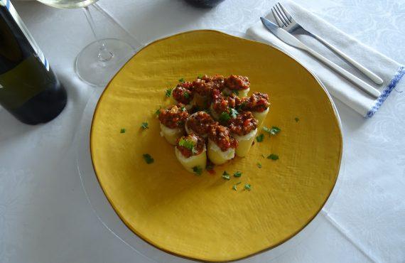 Mezzi paccheri with platessa